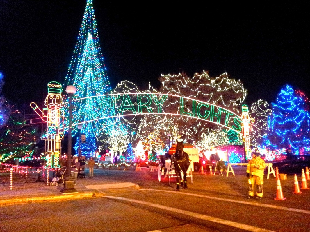 images videos from the last 10 years of the rotary lights display